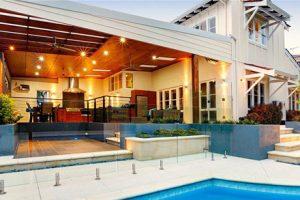 A beautiful villa and a swimming pool